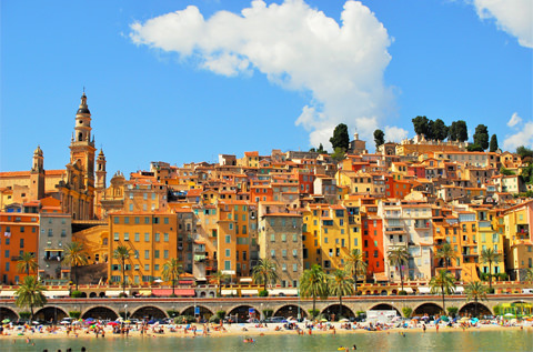colorful properties in menton south of france