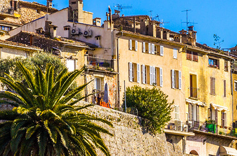 sun hitting old style property in south of france
