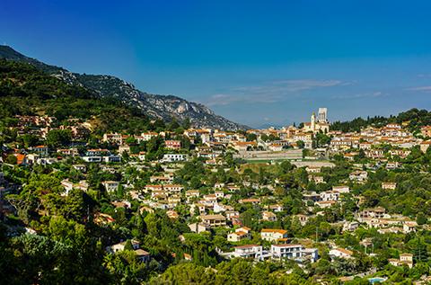 amazing view surrounding Nice on french riviera