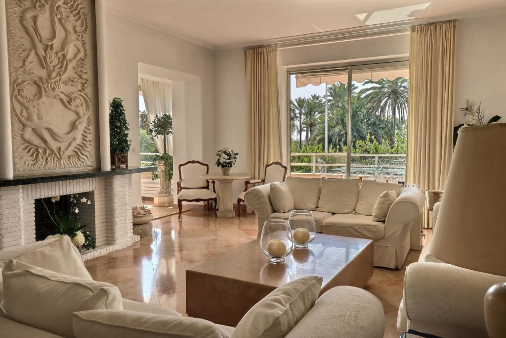 chic living room classic style of luxury apartment in cannes