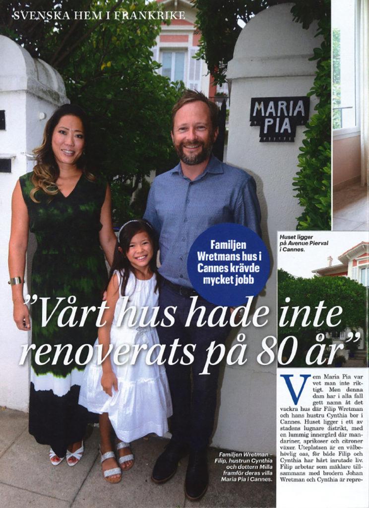 Intervju med Filip Wretman i Svensk Damtidning, sidan 2