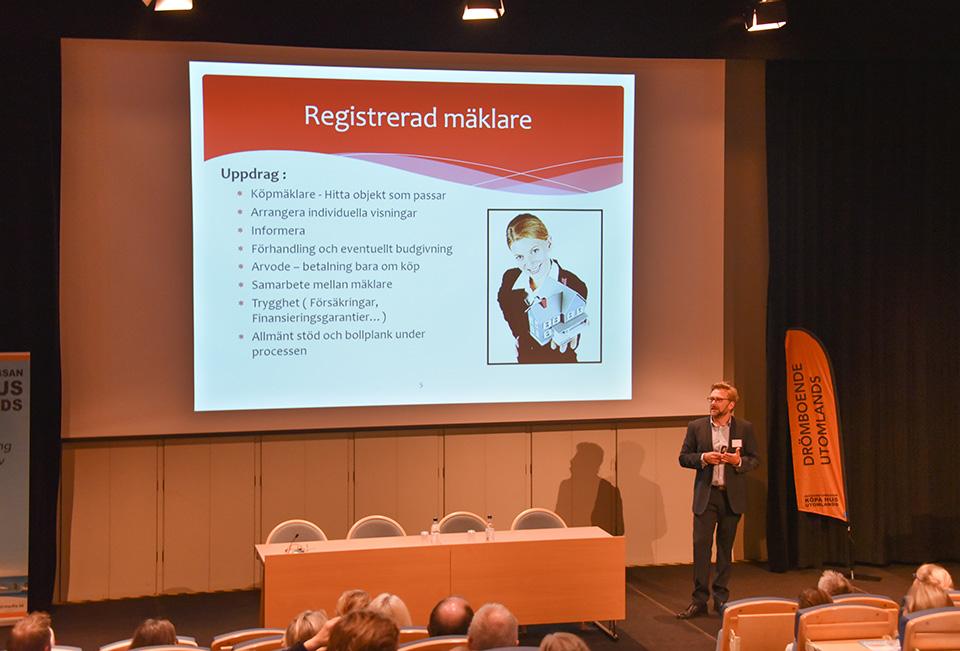 Johan Wretman håller föredrag