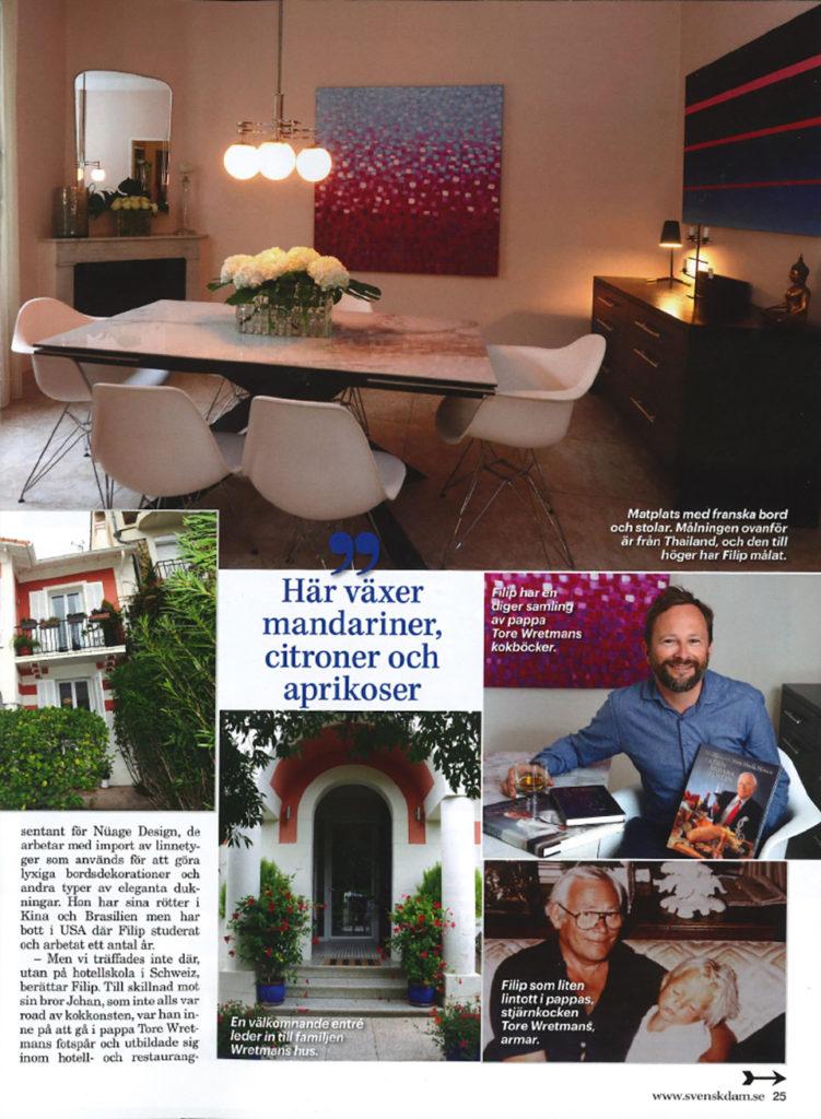 Intervju med Filip Wretman i Svensk Damtidning, sidan 3