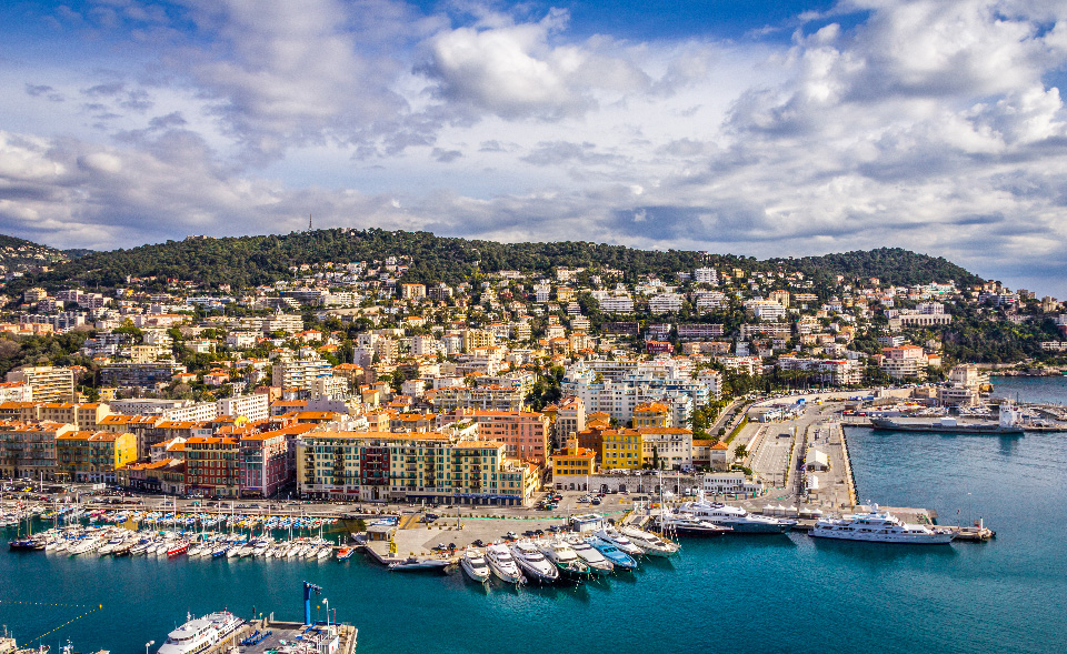 View of Nice and his port