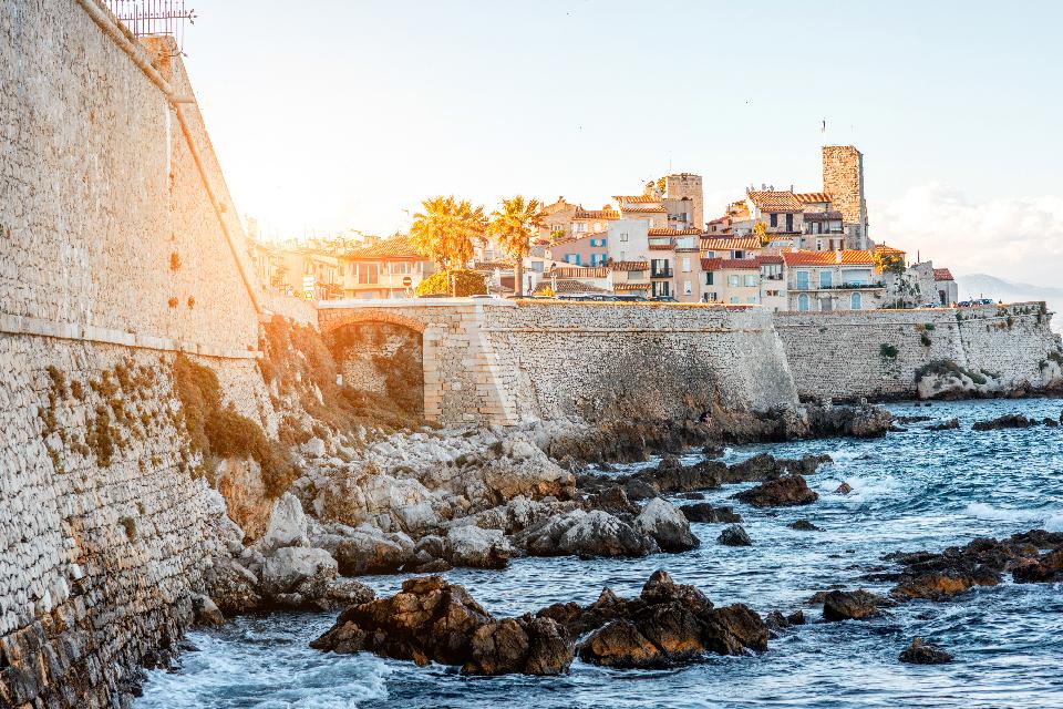 Antibes utsikt gamla stan