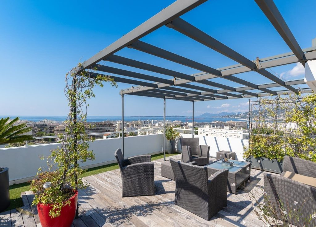 apartment with terrace in southern france for sale
