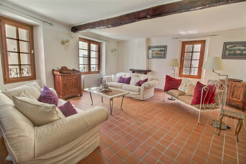 living room of south france home