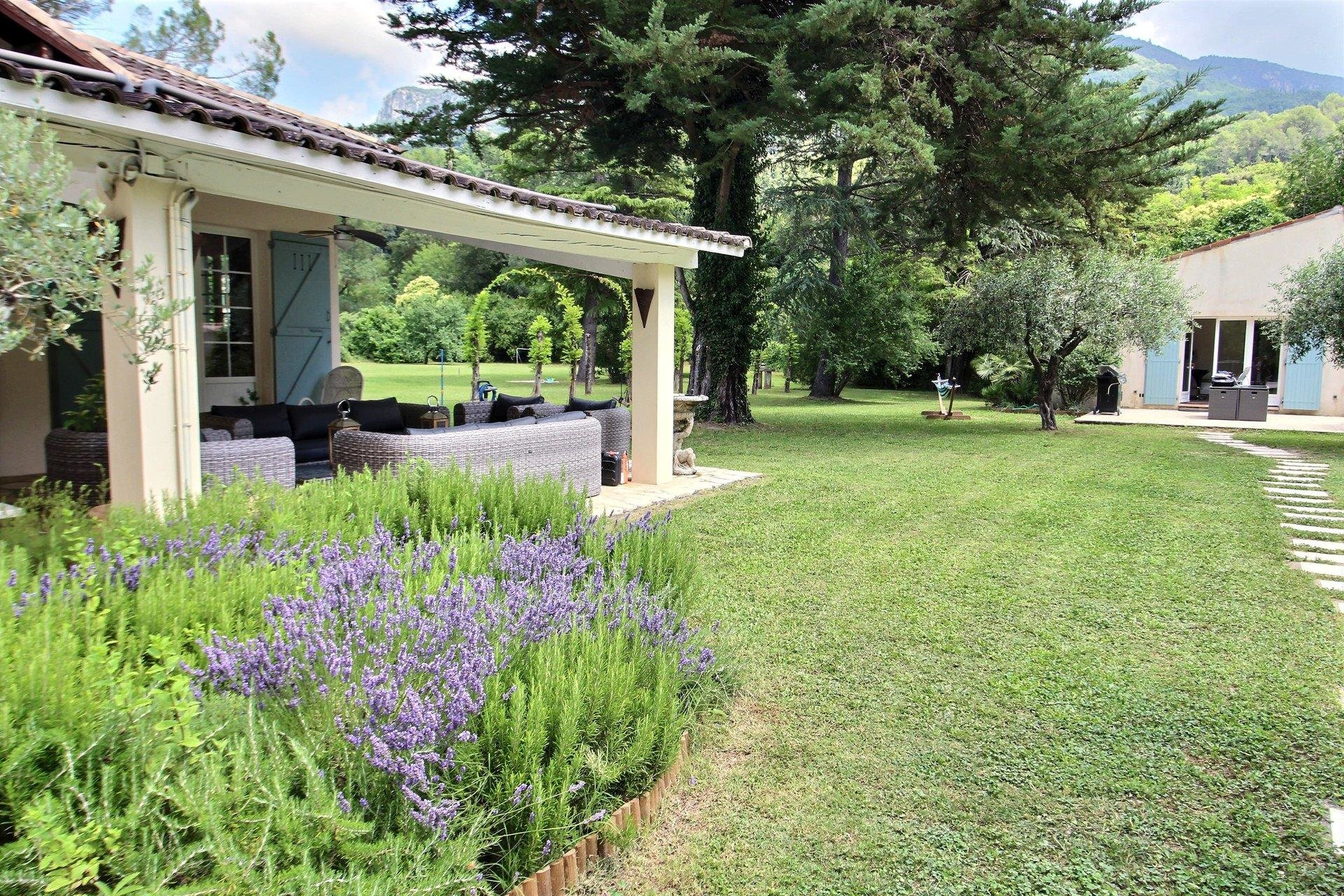 Luxury Country Paradise With A Big Pool And The River In Next Door Tourettes Sur Loup Wretman Estate