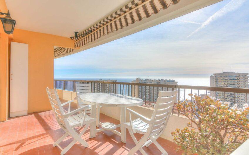 2 pièces avec grande terrasse et vue mer panoramique – Beausoleil