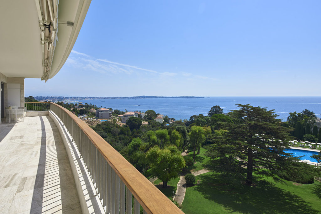 view of the south of france from luxury apartment in cannes