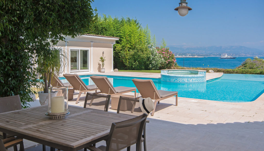 property for sale in antibes with pool and view