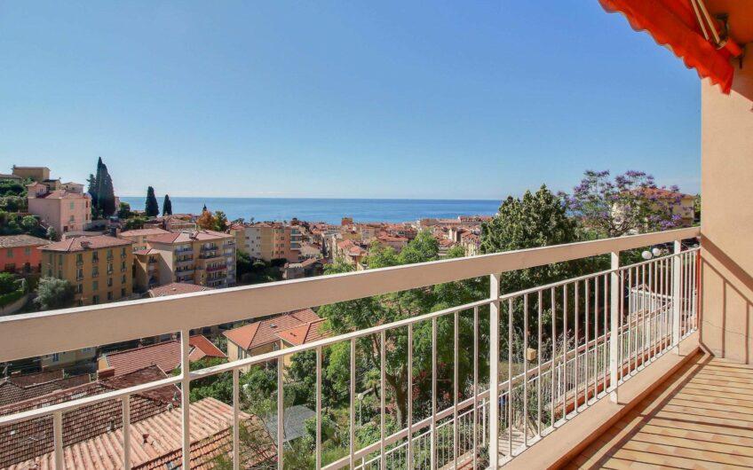 Appartement 2 pièces avec balcon vue mer – Menton Terres Chaudes