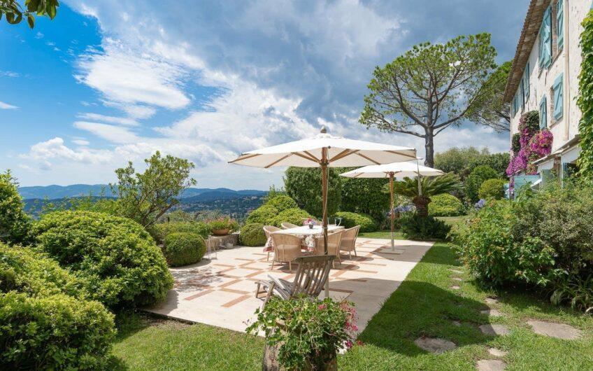 Authentique mas en pierre avec vue panoramique mer et collines – Grasse