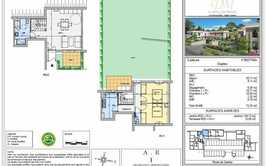 Duplex – Appartement 3 pièces neuf – Valbonne