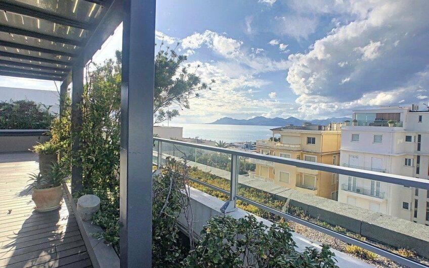 Exceptionnel penthouse avec vue mer panoramique – Cannes Pointe Croisette