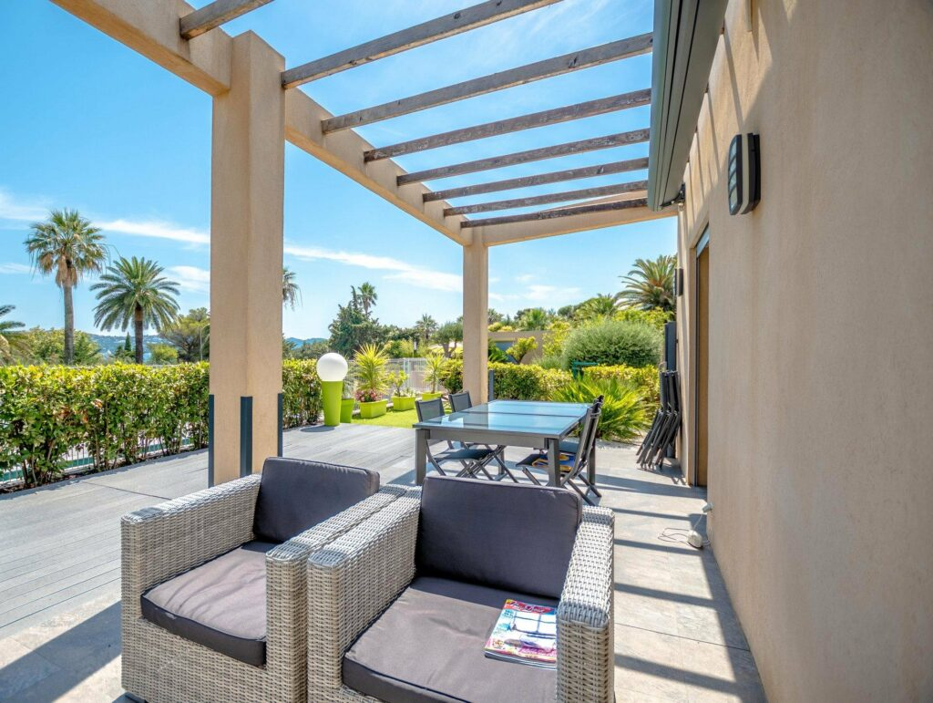 modern villa with terrace view for sale in south of france