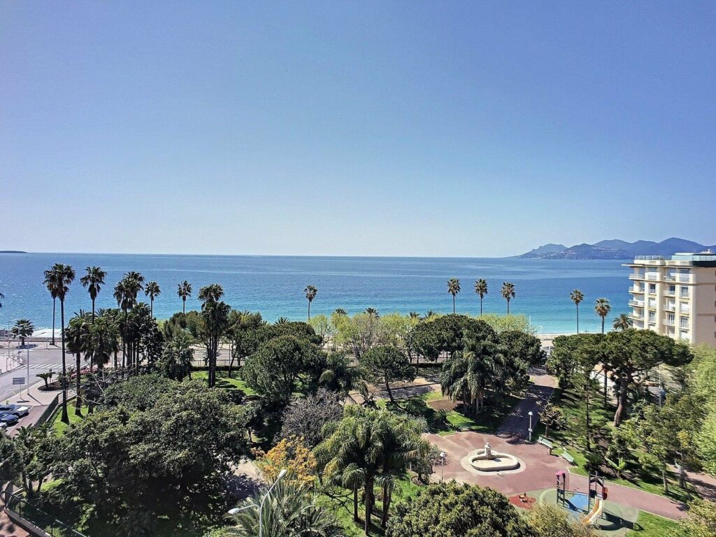 view from apartment terrace with view for sale in cannes