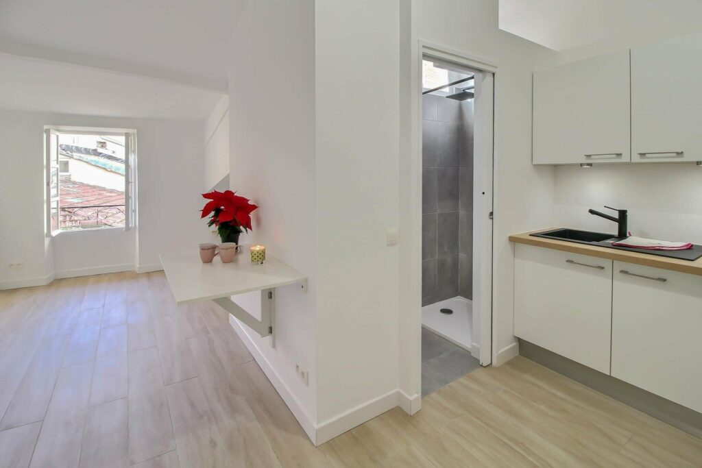 bright modern studio for sale in menton south france