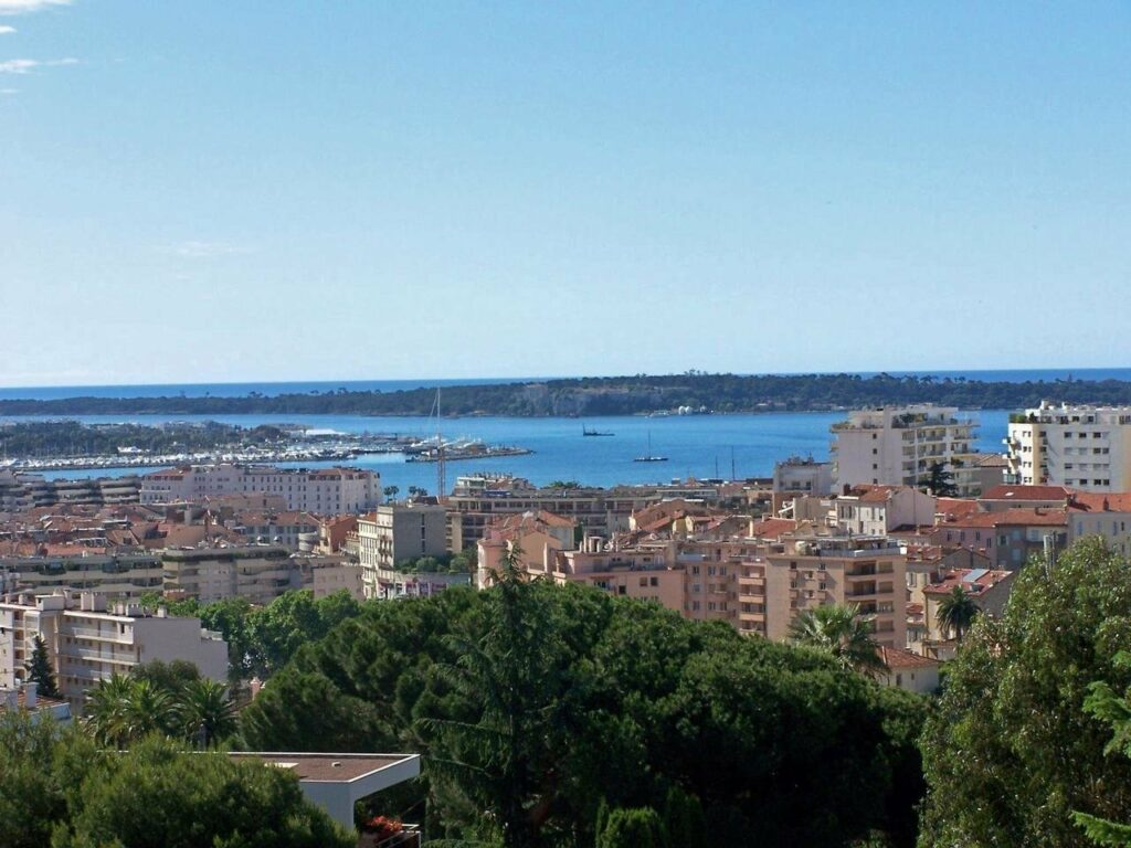 view of cannes city with riviera