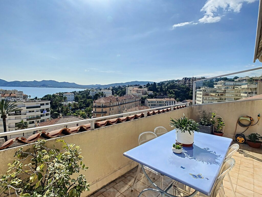 terrace apartment view for sale in cannes south france