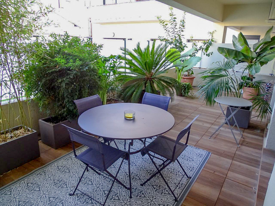 apartment deck in nice france