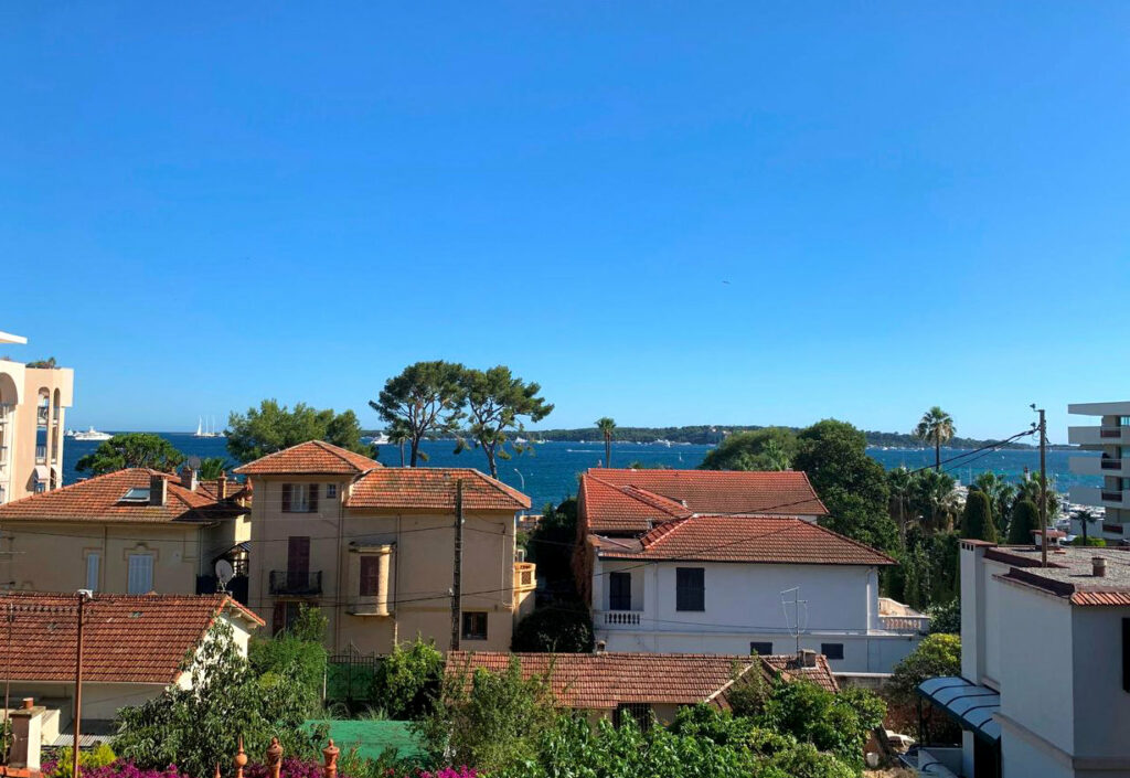sea view from apartment for sale in cannes