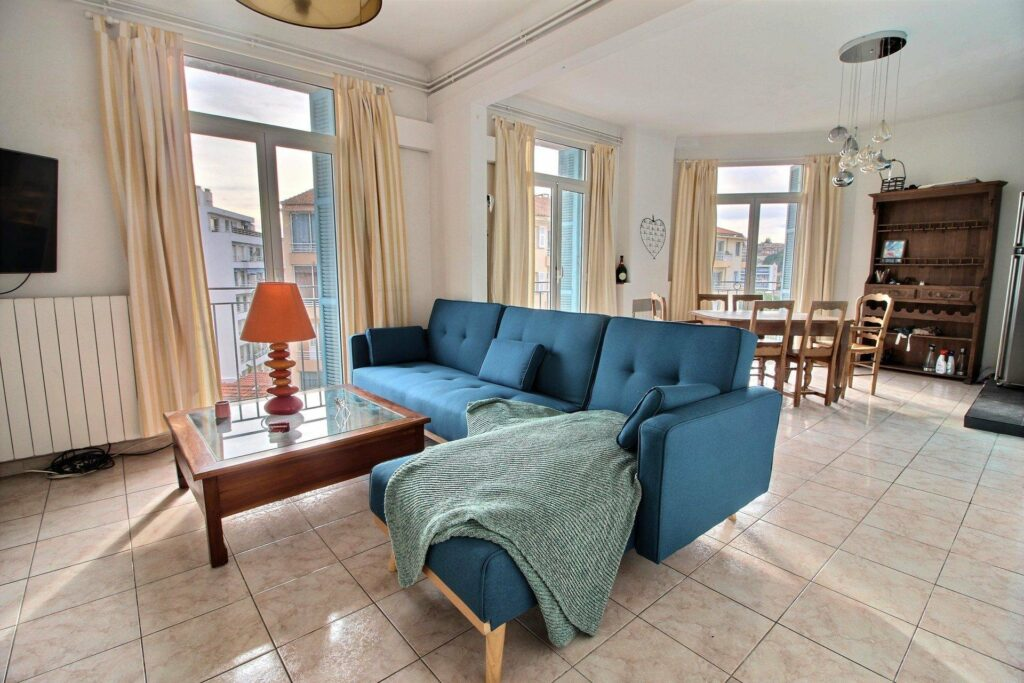 living room with view apartment in antibes
