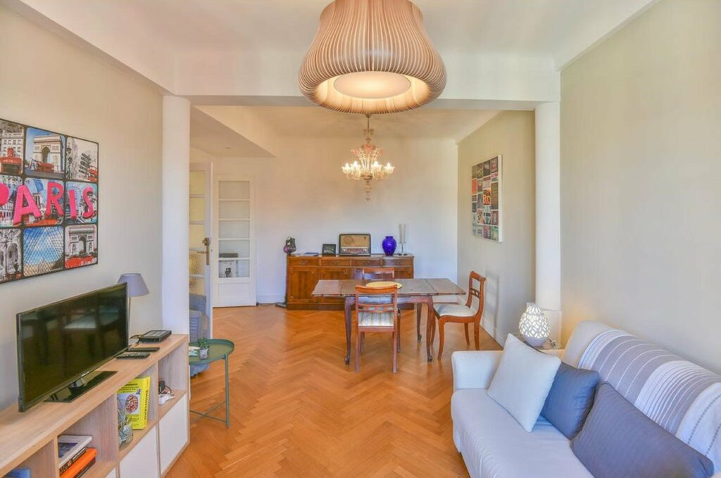 open living room of apartment in nice