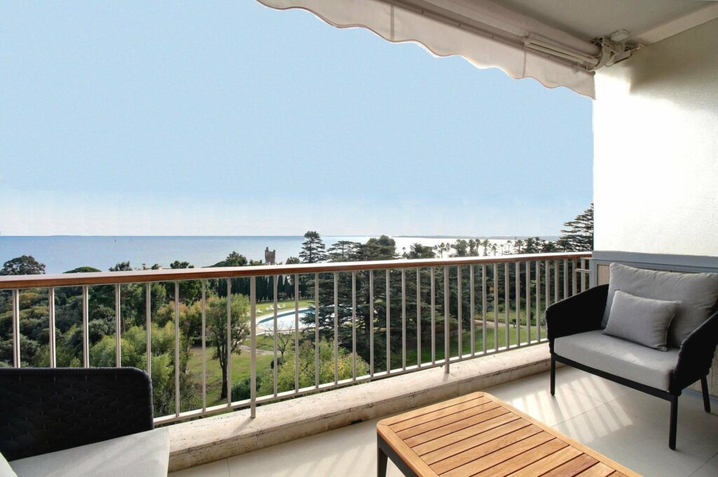 contemporary modern apartment for sale cannes with sea view