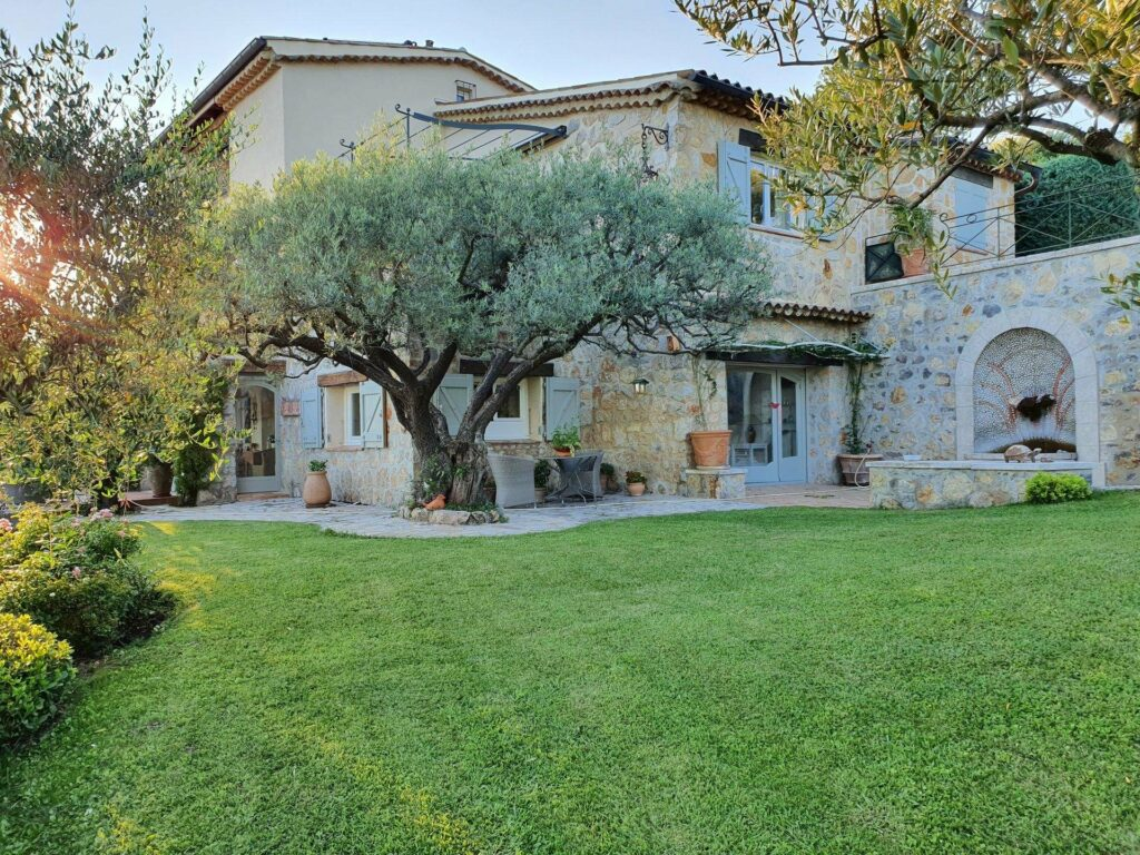 stone property with garden in south of france