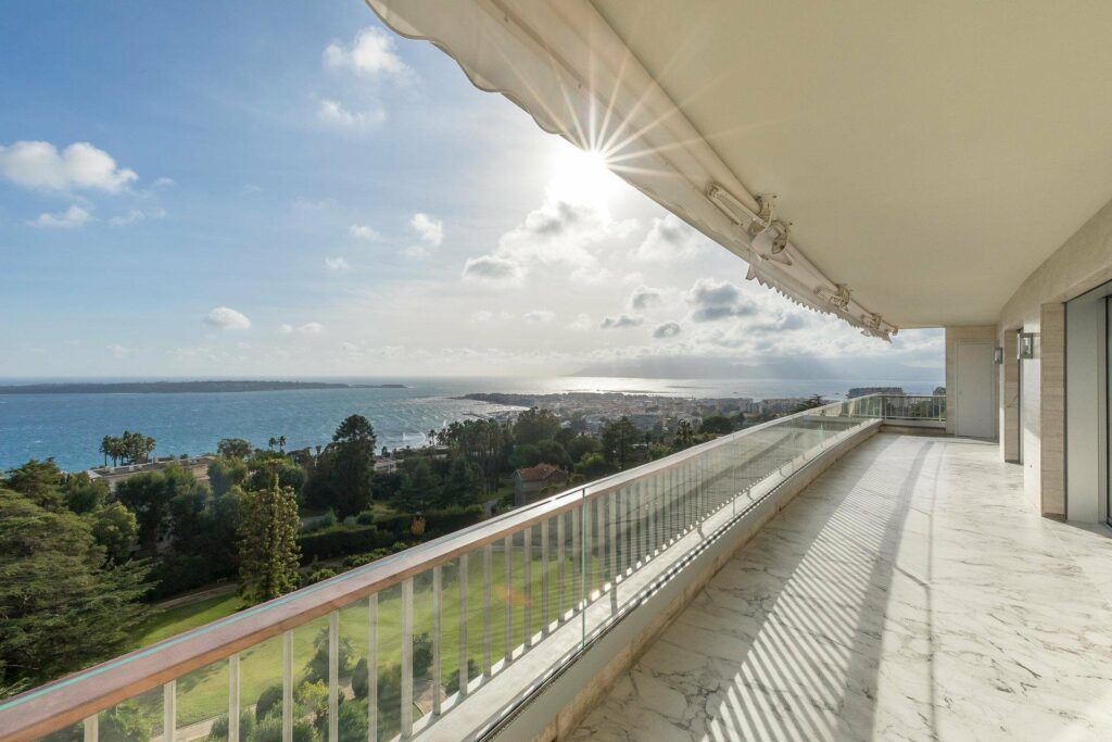 terrace view of apartment in cannes