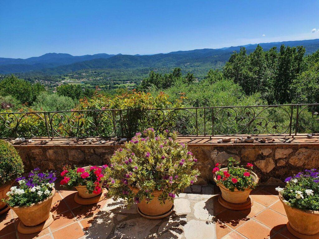 beautiful home garden facing the mountain view