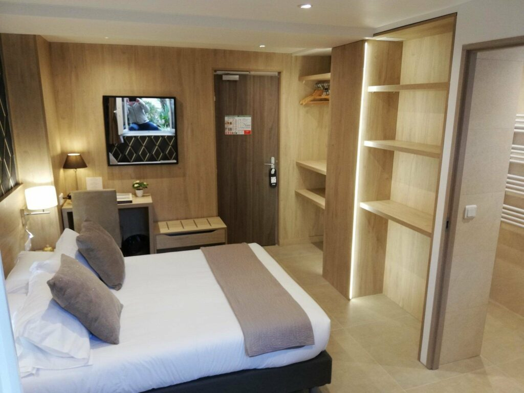 hotel room with modern design and