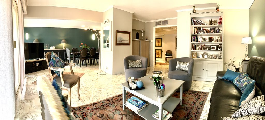 decorated living room of apartment for sale in cannes