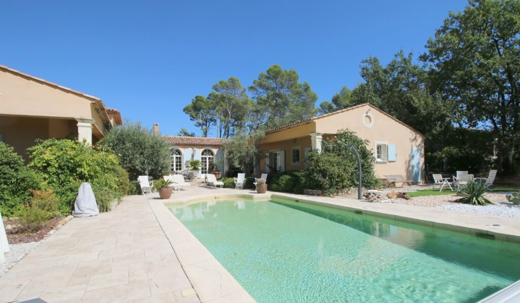 villa with a pool in south france
