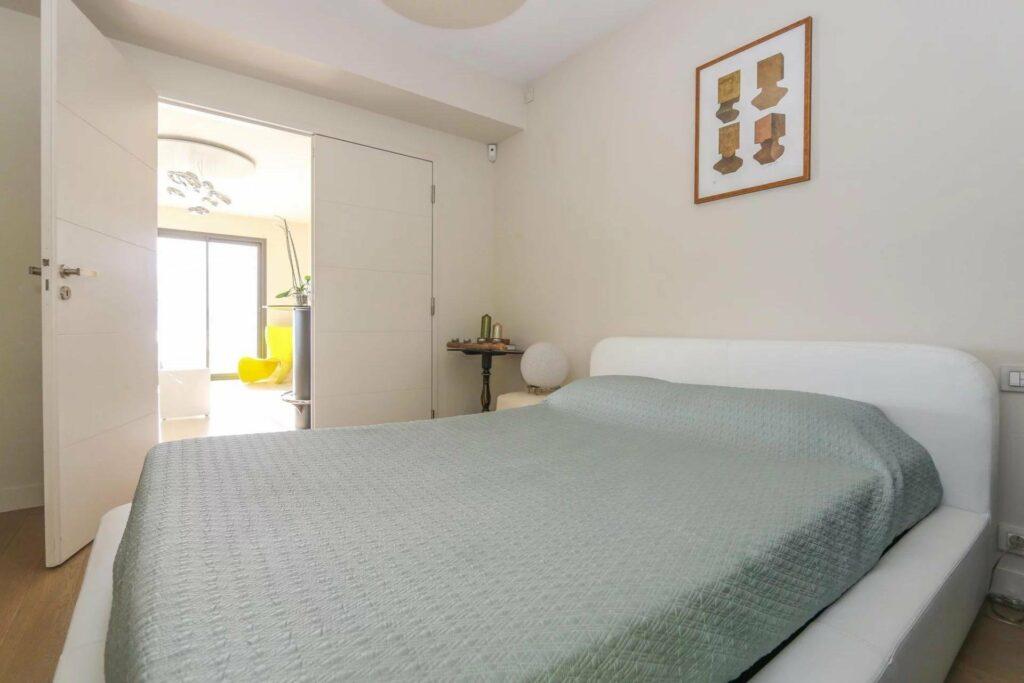 bedroom of luxury apartment in nice mont boron