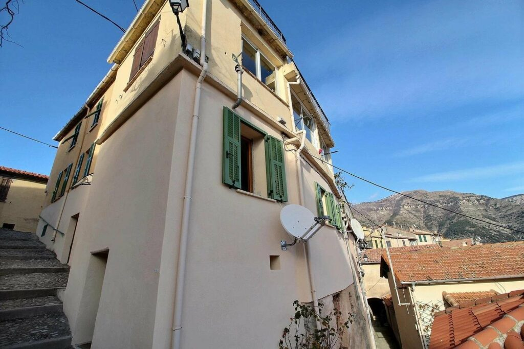 outside of charming studio apartment in sospel for sale