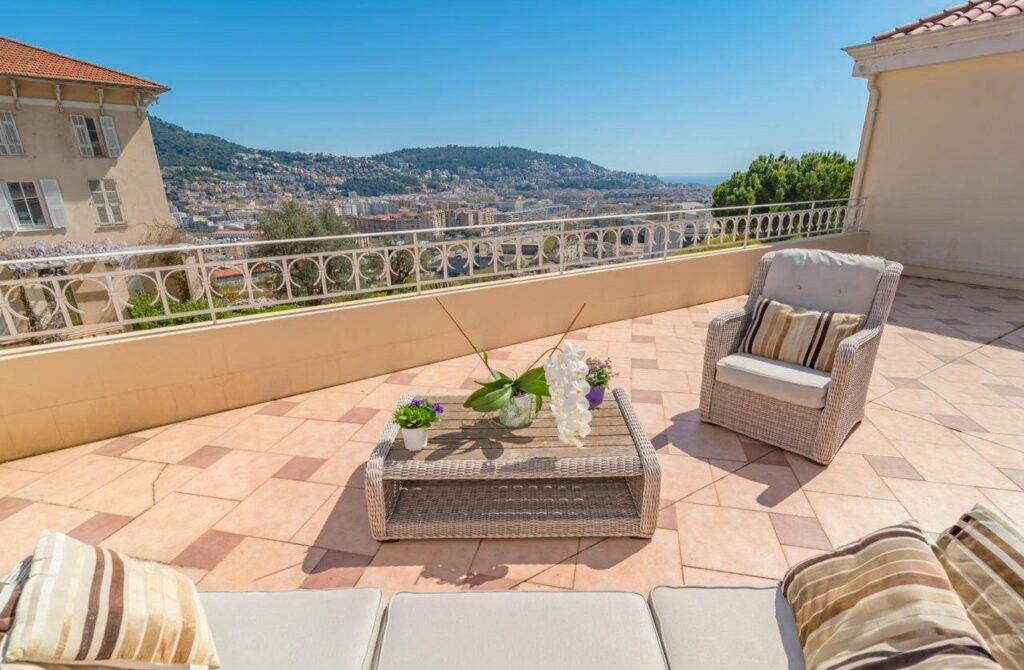 terrace view of aparment in nice