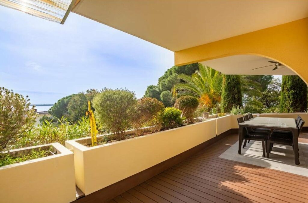 sea view from terrace of apartment in cannes