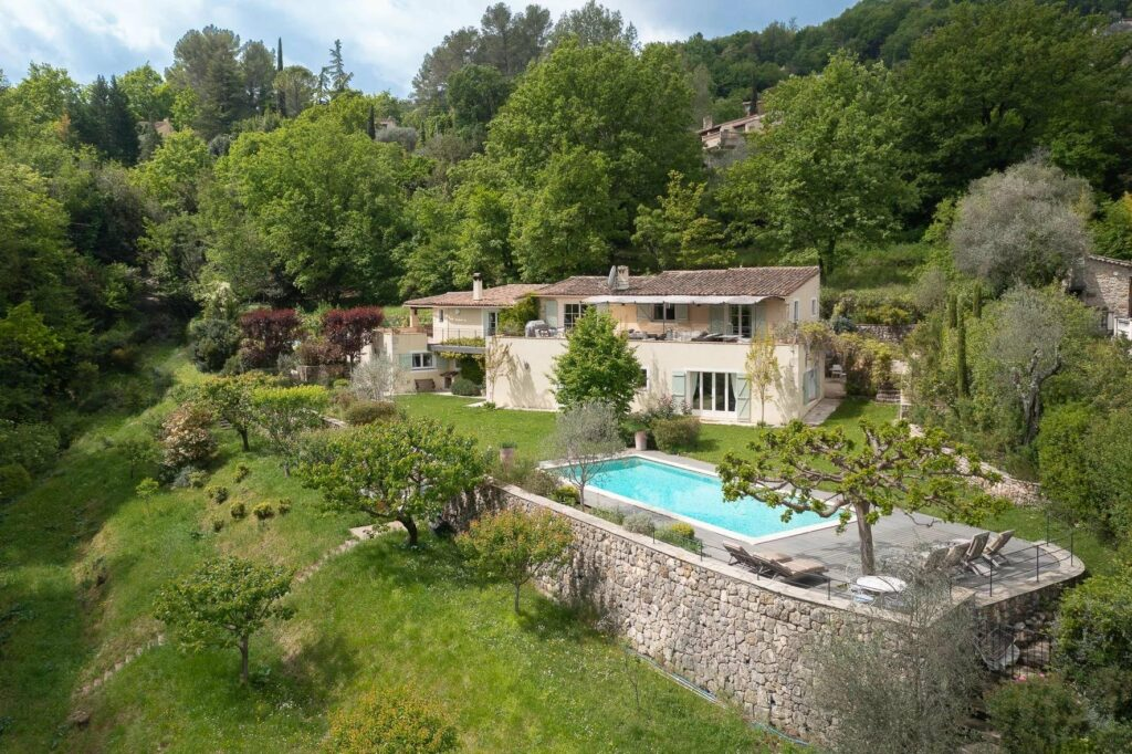 southern france villa in mountains with a pool