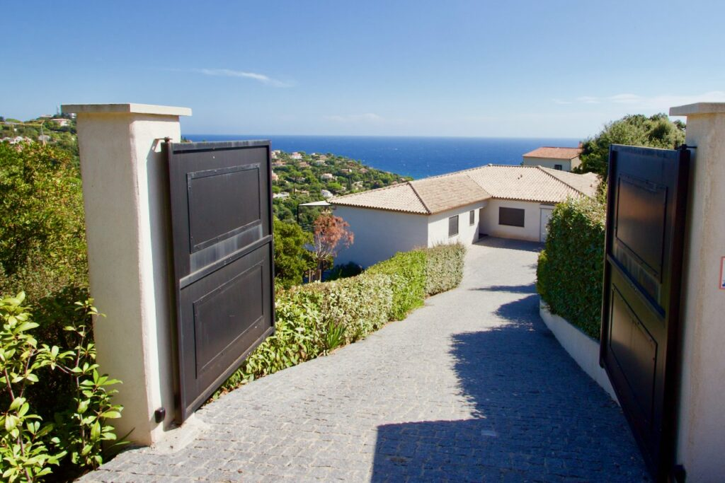 gated villa in south of france with garden and pool