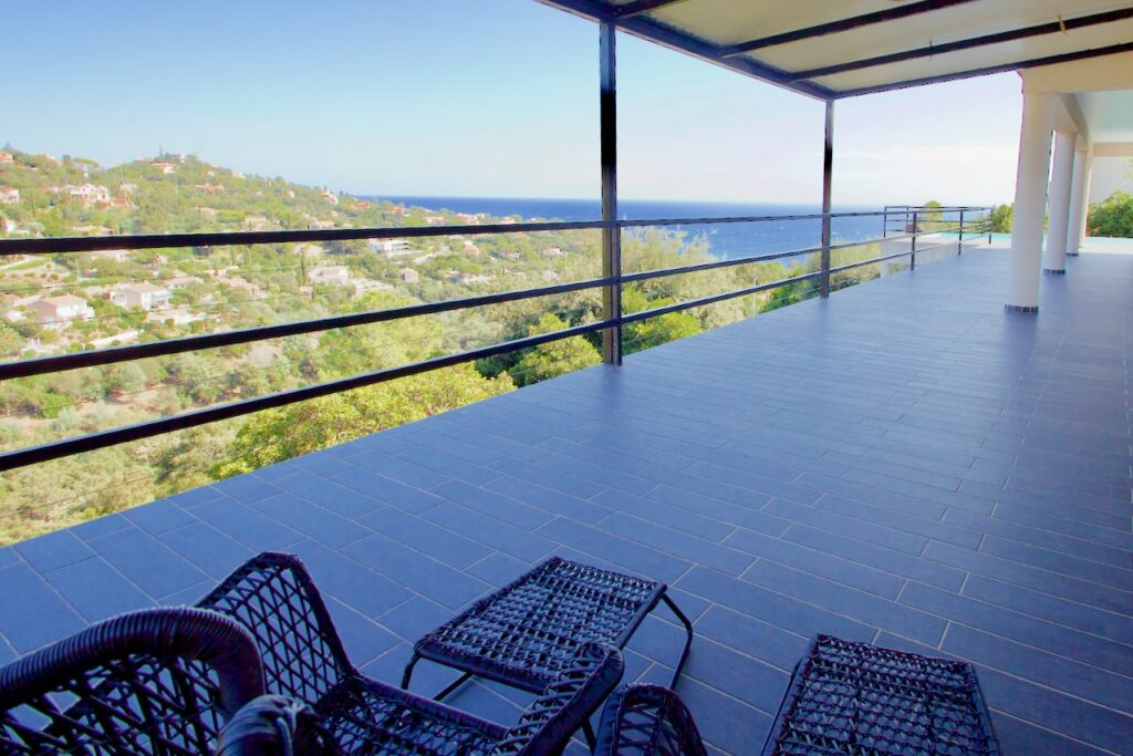 terrace sea view from private villa in south france les issambres