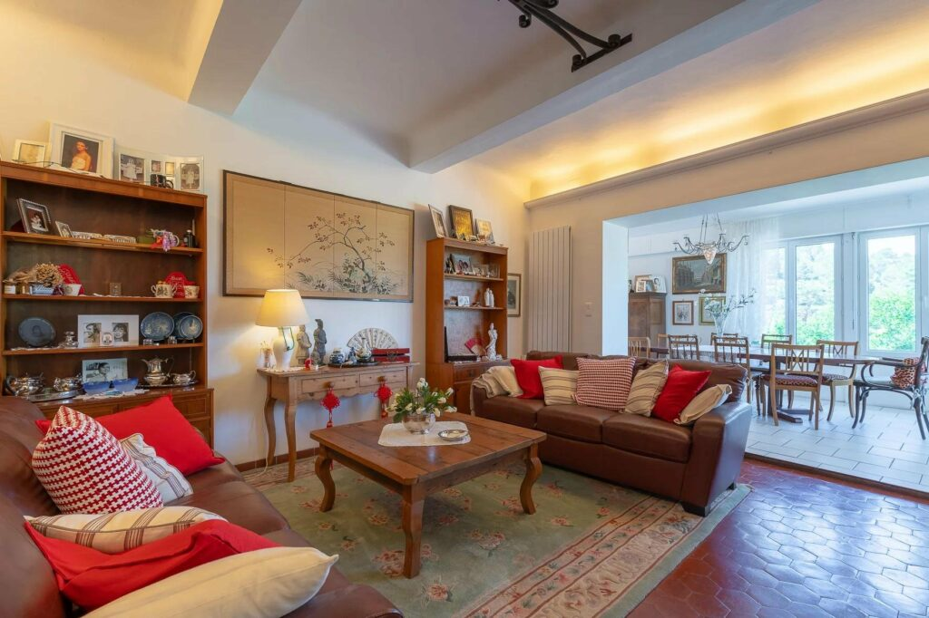 charming living room with two couch and small center wood table