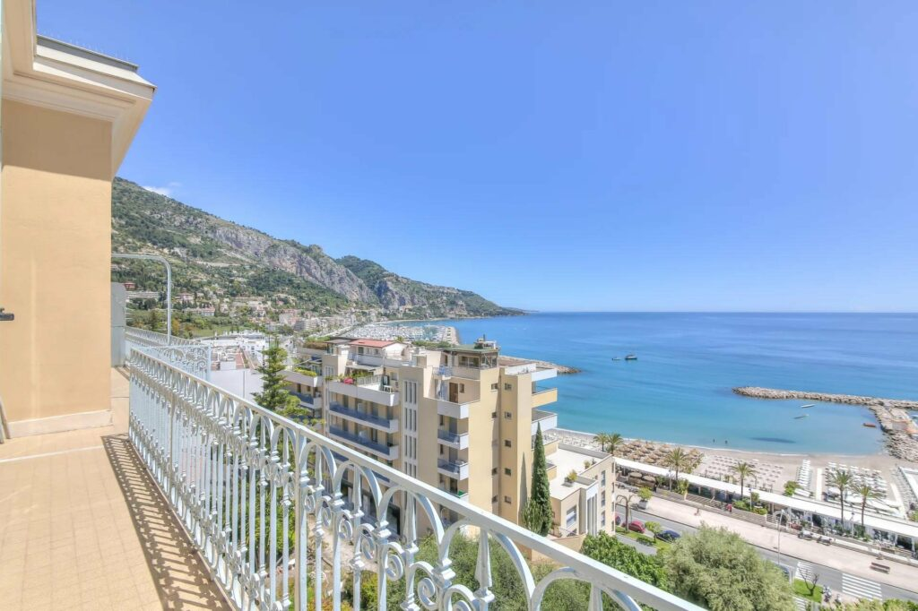 view from terrace apartment of the coast of the south of france