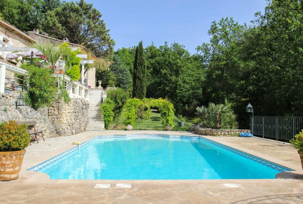 property villa in montauroux with large private pool and garden decor trees