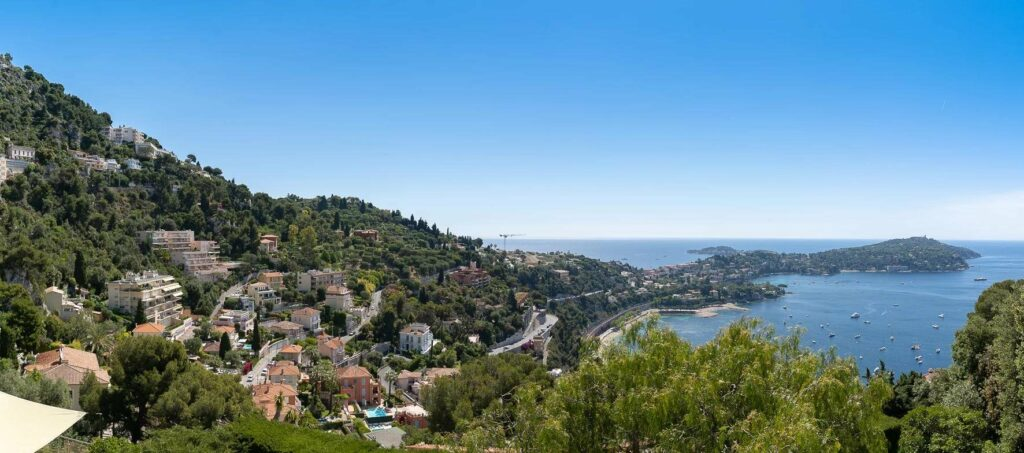 property in south france with sea and mountain view