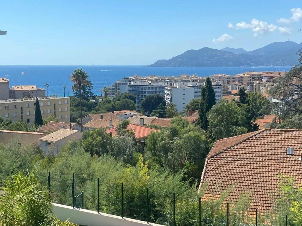 view from terrace of apartment in cannes