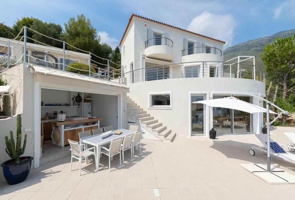 backyard area of luxury villa in south france