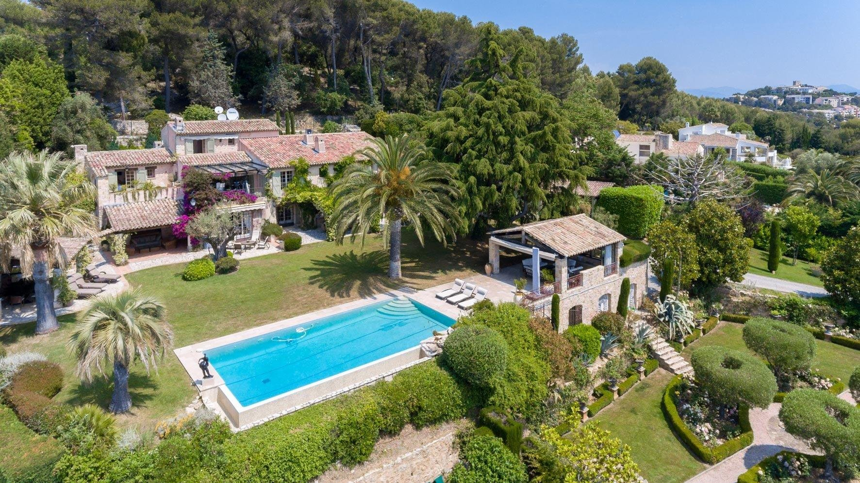 stone luxury villa in south france with pool and sea view cannes