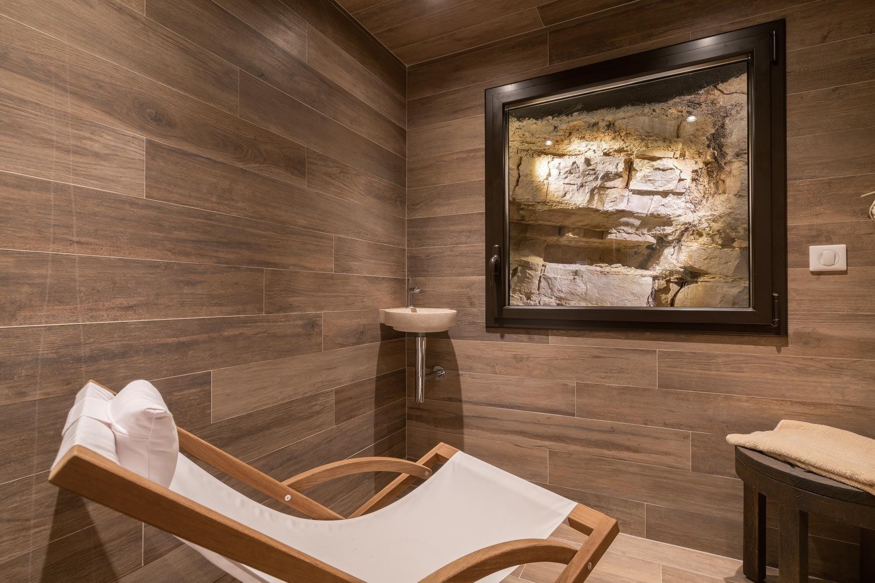 stone spa inside of luxury villa in cannes